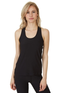 X by Gottex Black Shaper Racerback Tank Top