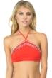 Bikini Lab Bright Eyed Girl Embroidered Triangle Bikini Top