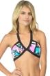Bikini Lab Downtown Funk Bandeau Halter Bikini Top