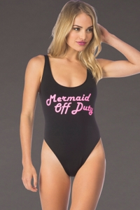 Bikini Lab Mermaid Off Duty One Piece Swimsuit