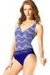 Badgley Mischka Gisele Surplice One Piece Swimsuit