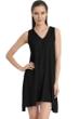 Jordan Taylor Belize Black V-Neck Handkerchief Dress