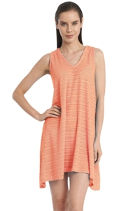 Jordan Taylor Belize Coral V-Neck Handkerchief Dress