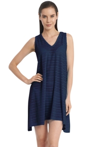 Jordan Taylor Navy V-Neck Handkerchief Dress