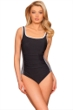 Miraclesuit White Line Drive Shirred Racer One Piece Swimsuit