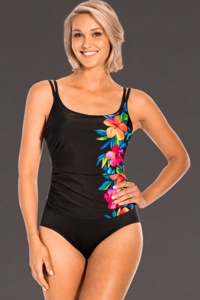 Miraclesuit Aloha Gardens Fauxkini One Piece Swimsuit