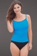 Miraclesuit Turquoise DD-Cup Fauxkini One Piece Swimsuit