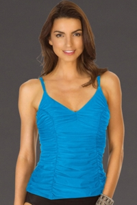 Miraclesuit Copen Blue DD-Cup Topanga Underwire Tankini Top