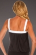 Miraclesuit White Colorblock D-Cup Breezy Tankini Top