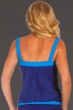 Miraclesuit Marine Blue Colorblock D-Cup Breezy Tankini Top