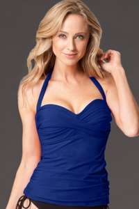 Miraclesuit Navy Barcelona D-Cup Bandeau Tankini Top