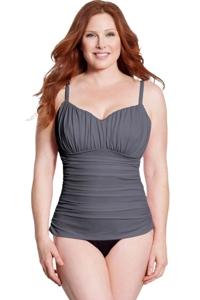 Miraclesuit Slate Colorblock Plus Size Rialto One Piece Swimsuit