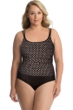 Miraclesuit Plus Size Spot On Fauxkini One Piece Swimsuit