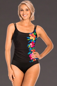 Miraclesuit Aloha Gardens DD-Cup Fauxkini One Piece Swimsuit