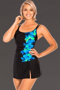 Miraclesuit Blue Happy Place DD-Cup Swimdress
