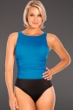 Miraclesuit Blue Colorblock DD-Cup Regatta Underwire High Neck Swimsuit