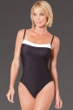 Miraclesuit White Colorblock D-Cup Kara Underwire One Piece Swimsuit
