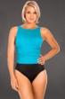 Miraclesuit Aquamarine Colorblock D-Cup Regatta Underwire High Neck Swimsuit