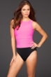 Miraclesuit Pink Colorblock D-Cup Regatta Underwire High Neck Swimsuit