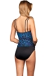 Miraclesuit Blue Purr-Fection DD-Cup Fauxkini One Piece Swimsuit
