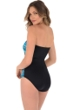 Miraclesuit Night Lights Muse Bandeau Underwire One Piece Swimsuit