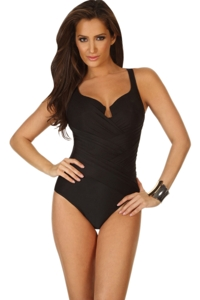 Miraclesuit Black Gandolf Underwire One Piece Swimsuit