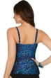 Miraclesuit Blue Purr-Fection DD-Cup Paramore Underwire Tankini Top