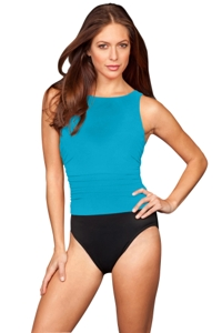 Miraclesuit Blue Colorblock DDD-Cup Regatta Underwire One Piece Swimsuit