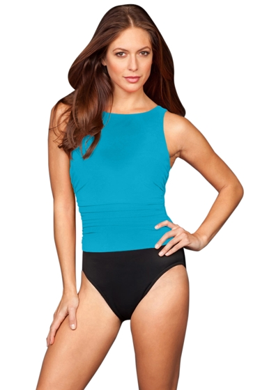 Miraclesuit Lagoon Colorblock DD-Cup Regatta Underwire One Piece Swimsuit