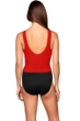 Miraclesuit Lipstick Red Colorblock DD-Cup Regatta Underwire One Piece Swimsuit