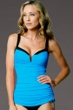 Miraclesuit Turquoise Duzette Tankini Top