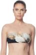 Carmen Marc Valvo Gilded Garden Bandeau Bikini Top