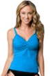 Miraclesuit Blue D-Cup Roswell Underwire Tankini Top