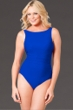 Miraclesuit Blue D-Cup Regatta Underwire High Neck Swimsuit
