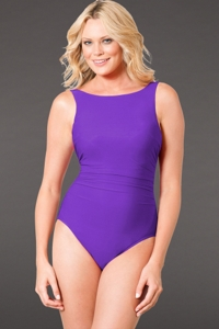 Miraclesuit Iris D-Cup Regatta Underwire High Neck Swimsuit