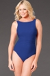 Miraclesuit Navy D-Cup Regatta Underwire High Neck Swimsuit