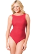 Miraclesuit Red D-Cup Regatta Underwire High Neck Swimsuit