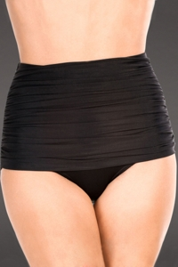 Miraclesuit Black Shirred Front Brief Swim Bottom