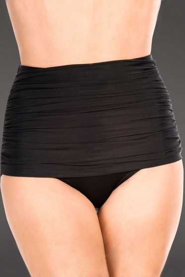 Miraclesuit Black Shirred Front Brief Swim Bottom