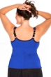 Miraclesuit Blue Plus Size Kimkini Underwire Tankini Top