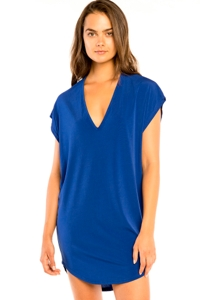 Jordan Taylor Royal Cut Out V-Neck Jersey Cover Up Dress