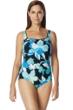 Chlorine Resistant Roxanne D-Cup Garden City Square Neck One Piece Swimsuit