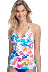 Profile by Gottex Splash V-Neck Halter Tankini Top