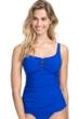 Profile by Gottex Date Night Sapphire Scoop Neck Shirred Tankini Top