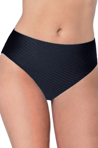 Profile by Gottex Ribbons Black Textured Seamless Tankini Bottom
