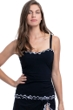 Profile by Gottex On the Dot Black E-Cup Scoop Neck Shirred Underwire Tankini Top