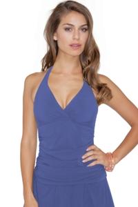 Profile by Gottex Ocean Blue Tutti Fruti Halter Underwire Tankini Top