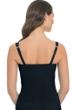 Profile by Gottex Black Tutti Frutti D-Cup Shirred Underwire Tankini Top