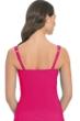 Profile by Gottex Raspberry Tutti Frutti D-Cup Shirred Underwire Tankini Top