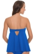 Profile by Gottex Periwinkle Tutti Frutti D-Cup Bandeau Fly Away Tankini Top